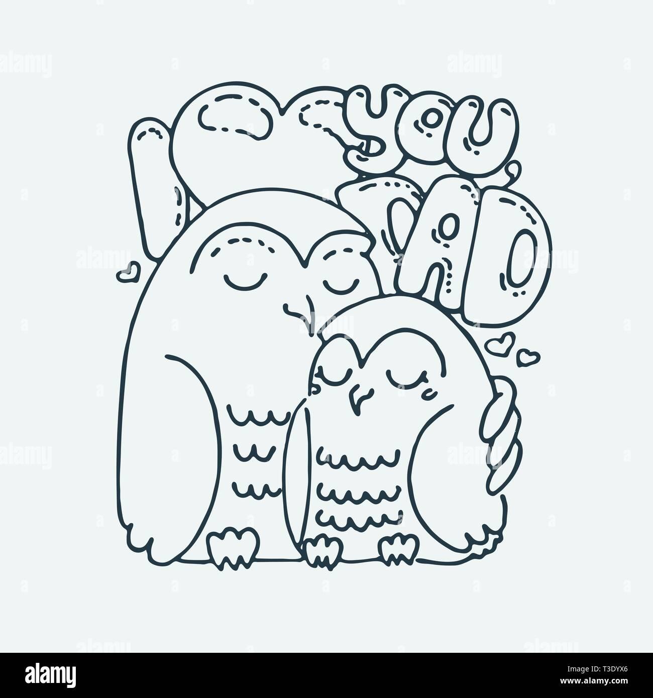 Te Amo Papa Caricatura Del Animal Imagenes Predisenadas