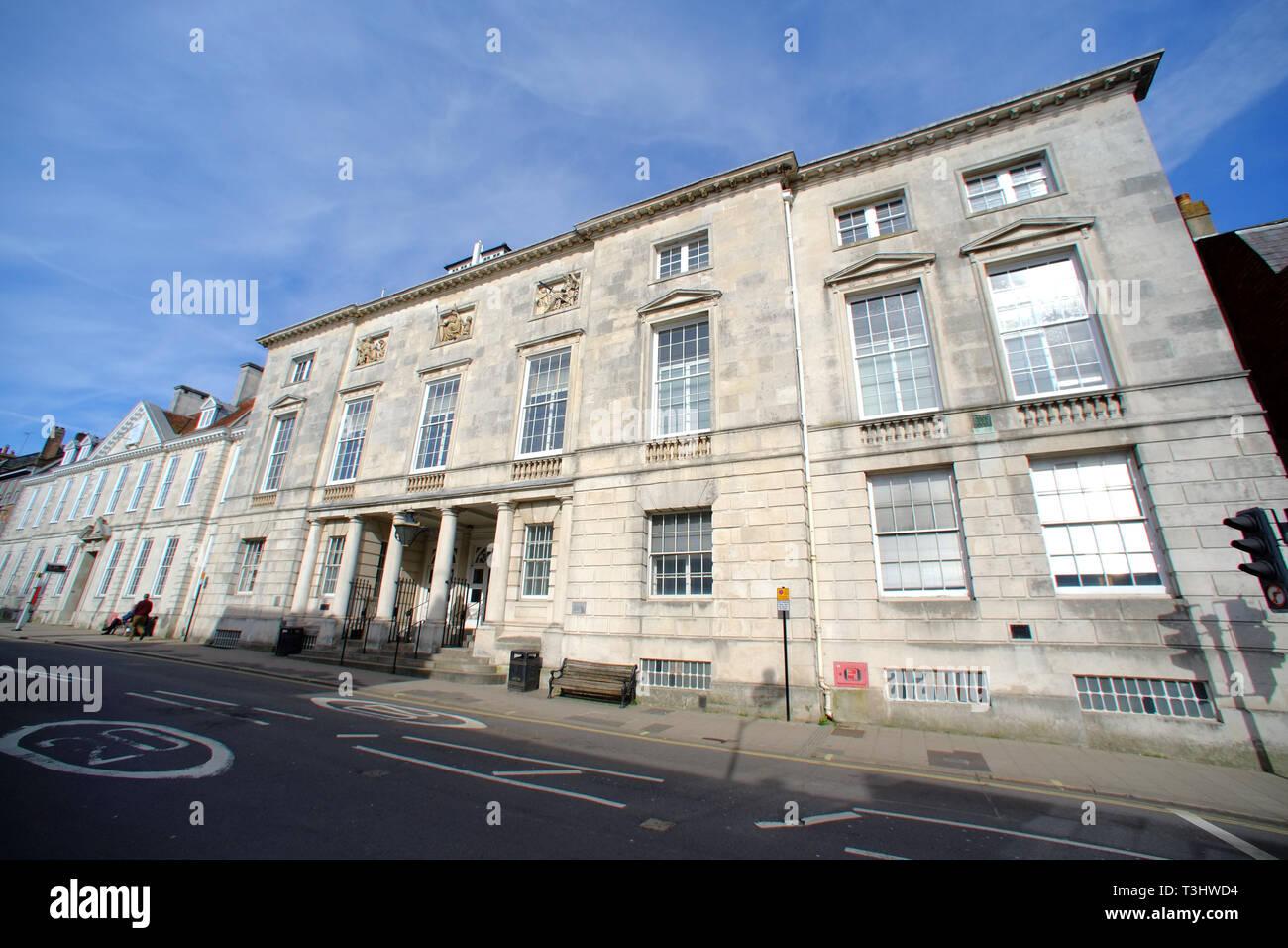 Crown Court en Lewes, Lewes, East Sussex, Reino Unido Foto de stock