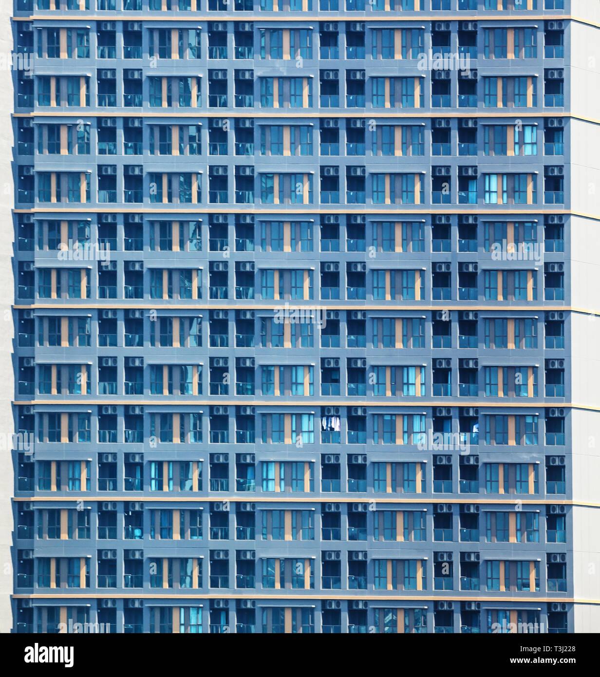 Vista Del Edificio Residencial Urbano Moderno Apartamento