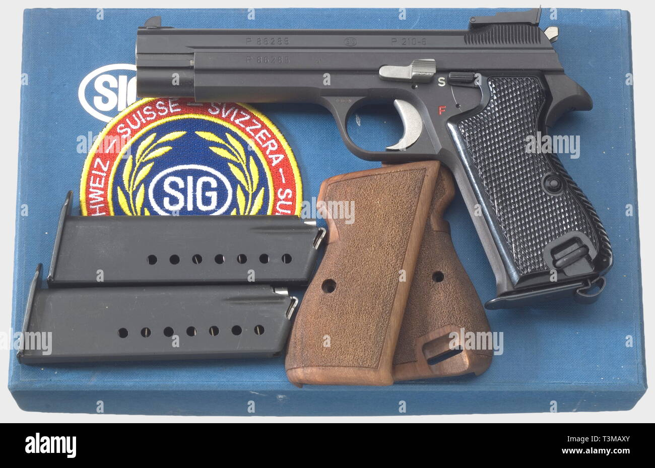 Tiro Deportes, pistolas, Suiza, SIG 210-6, calibre 9 mm, Additional-Rights-Clearance-Info-Not-Available Imagen De Stock