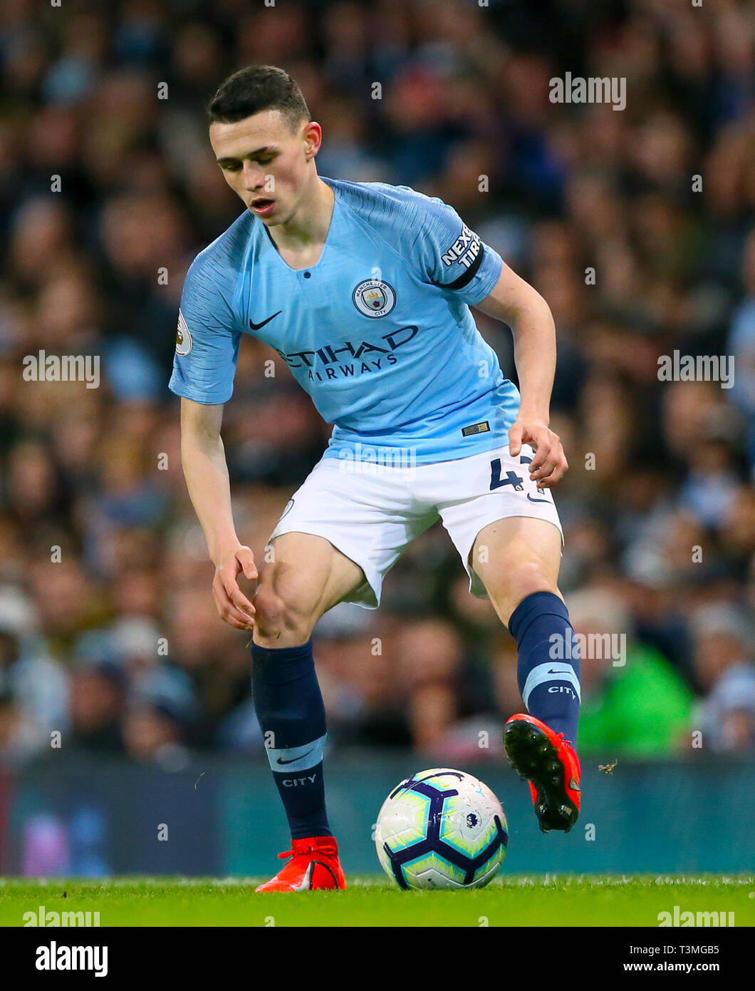 Manchester City's Phil poden Foto de stock