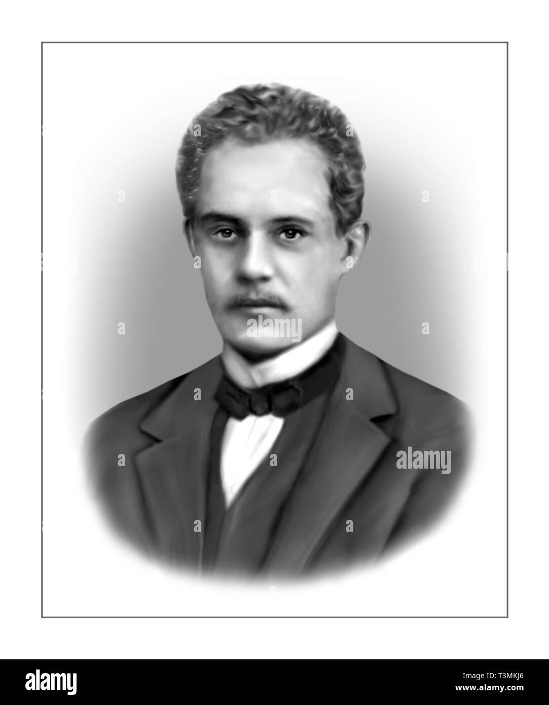 Arnold Sommerfeld 1868-1951 físico teórico alemán Foto de stock