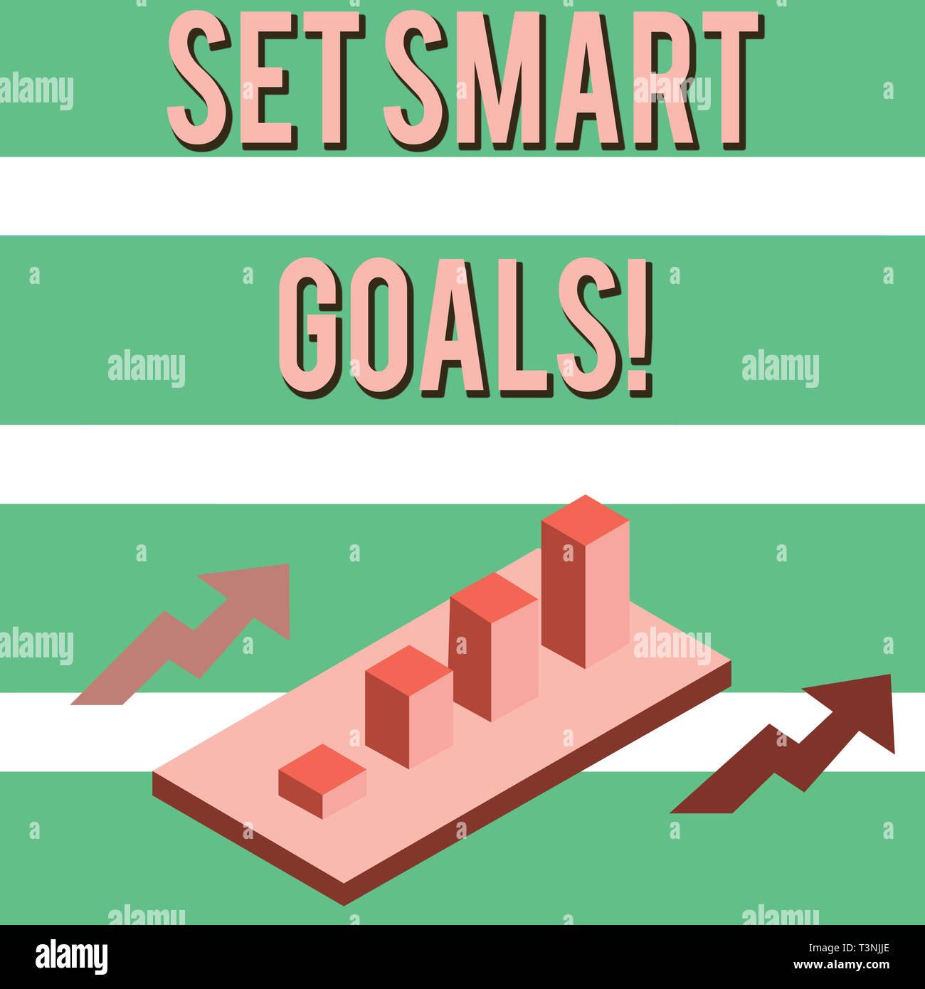 Escribir Nota Mostrando Establecer Objetivos Smart Concepto