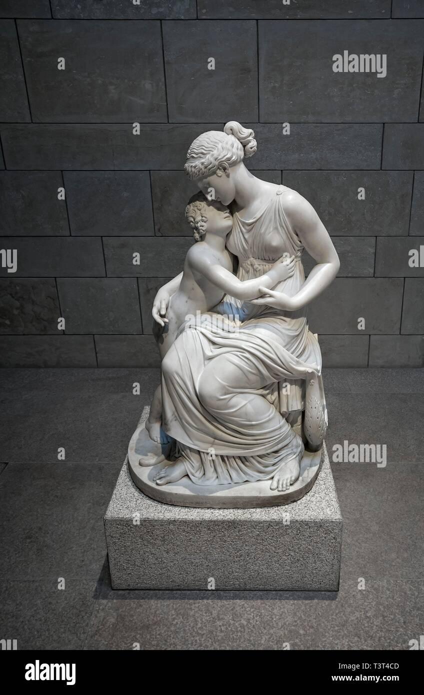 Amor y la Musa, por Konrad Eberhard 1768-1859, Neue Pinakothek, Munich, Alemania Imagen De Stock