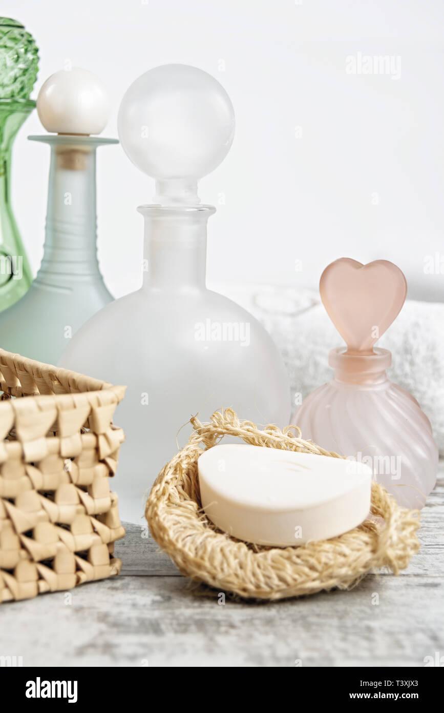 Aromaterapia bagno verticale Imagen De Stock