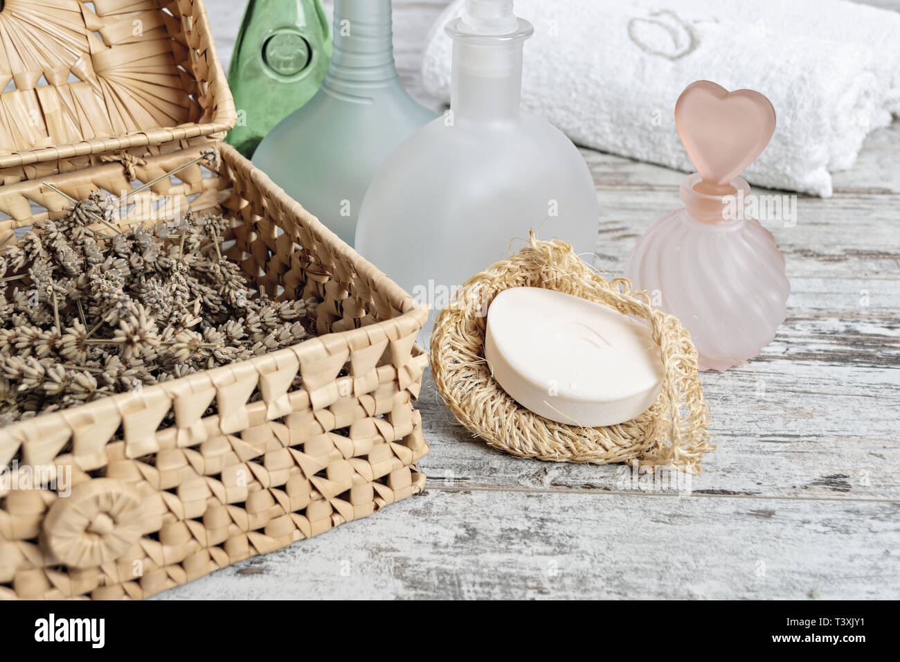 Aromaterapia bagno altra vista Imagen De Stock