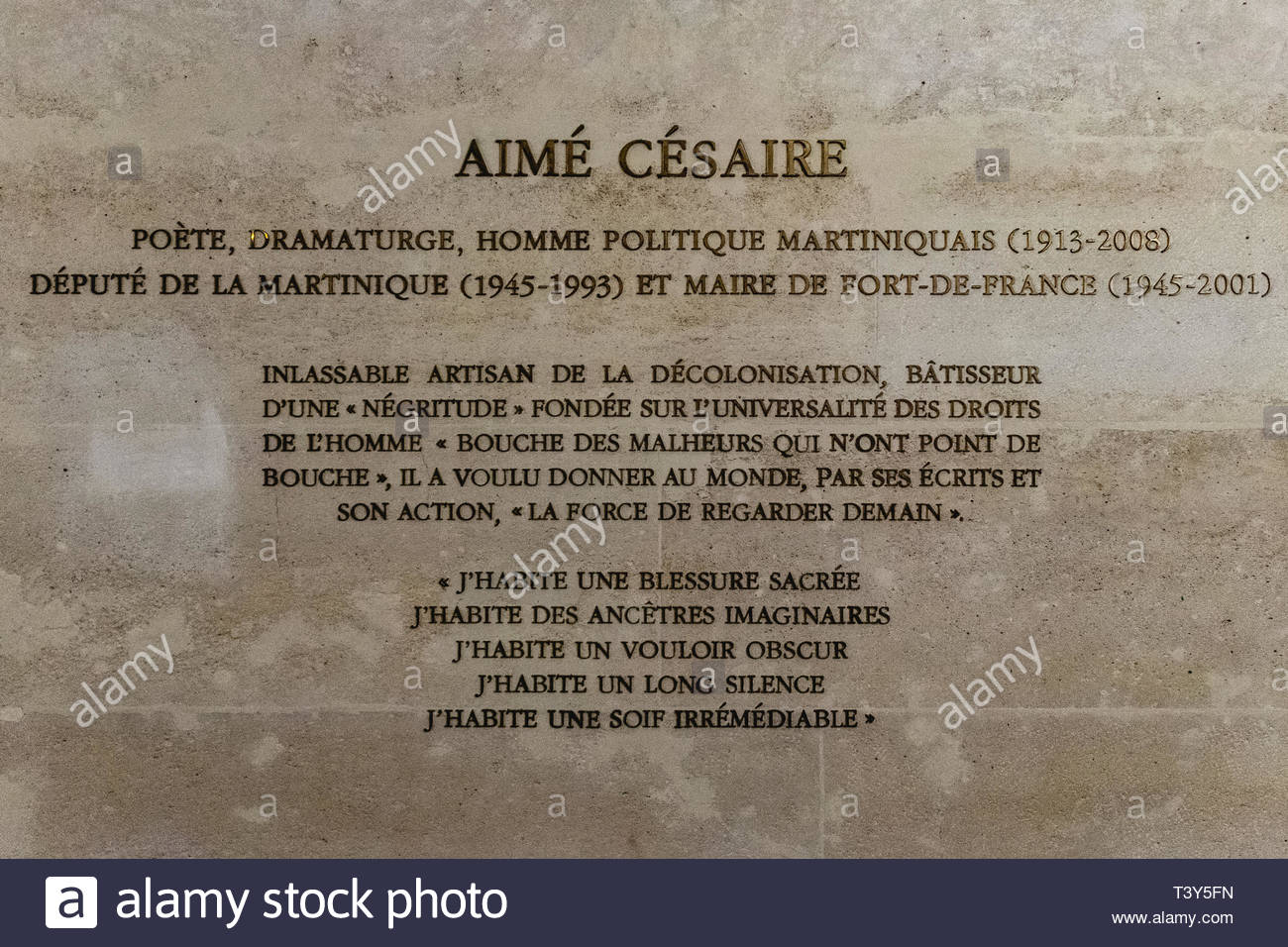 Homenaje A Aimé Césaire En El Panteón El 29 De Agosto De
