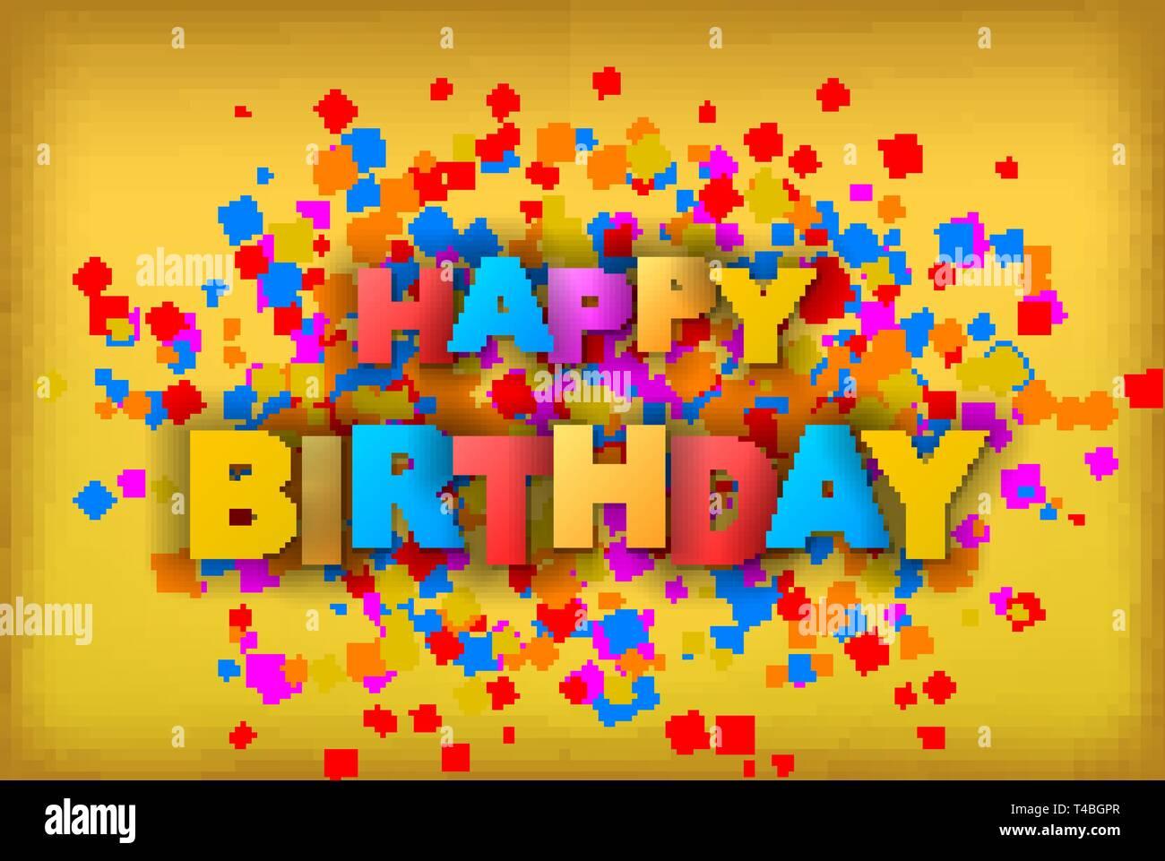 Feliz Cumpleaños Tarjeta De Felicitación El Folleto La