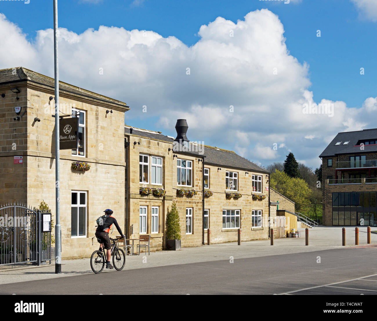 Buon Apps Restaurante Italiano, Mill Lane, Otley, West Yorkshire, Inglaterra Imagen De Stock