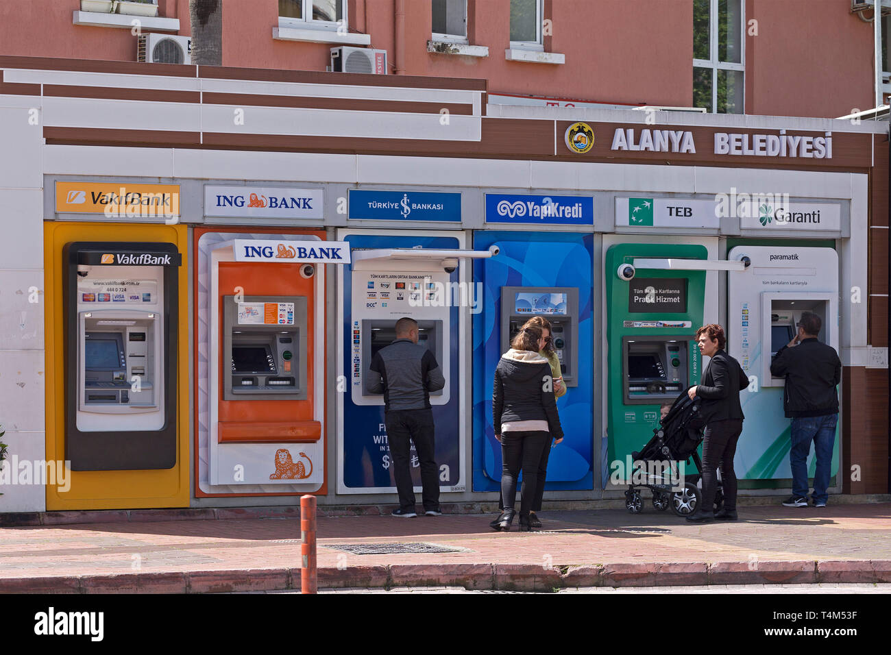 Cajeros automáticos, provincia de Alanya, Antalya, Turquía Imagen De Stock