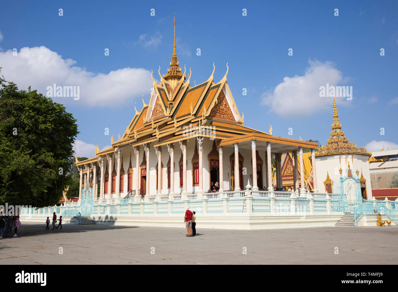 La Pagoda de Plata en el interior del recinto del Palacio Real, en Phnom Penh, Camboya, Sudeste Asiático, Asia Foto de stock