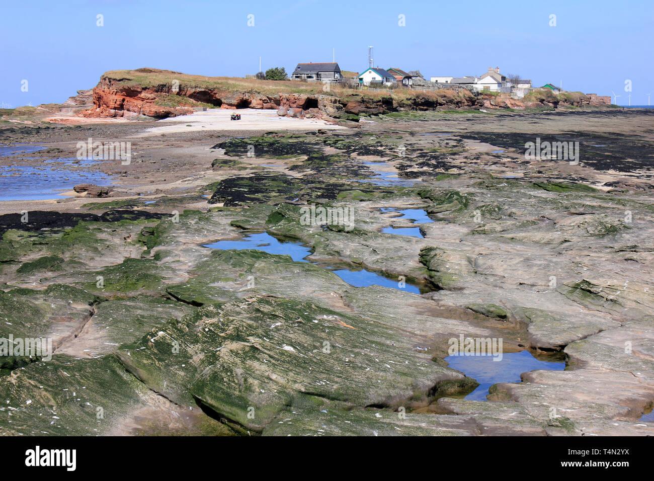 Hilbre Island, Dee estuario, Wirral, REINO UNIDO Foto de stock