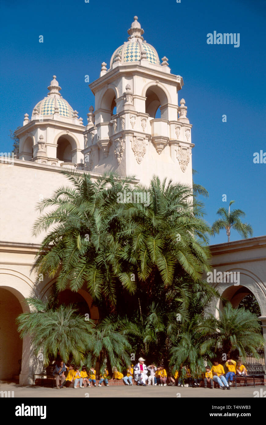 California San Diego Balboa Park, construido para la exposición Casa del Prado clase de viaje Imagen De Stock