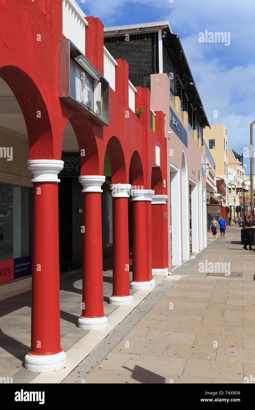 Las Bermudas, Hamilton, arquitectura colonial británica Foto de stock