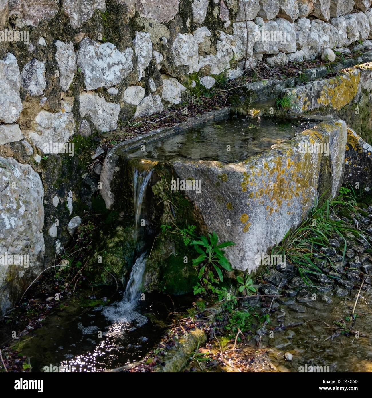 Abrevadero, Abeurador del Camí Blanc, Campanet, Mallorca, Islas Baleares, España. Foto de stock