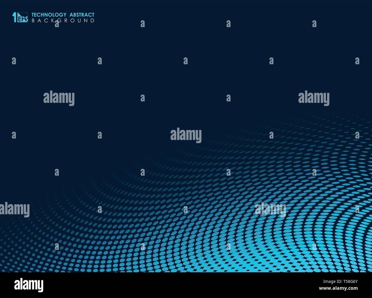 Blue Tech abstracto geométrico de puntos mínimos de fondo. Puede utilizar para presentaciones, anuncios, carteles, impresión, ilustraciones vectoriales EPS. Ilustración10 Imagen De Stock