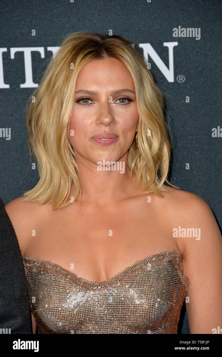 Los Angeles, Estados Unidos. 22 abr, 2019. LOS ANGELES, Estados Unidos. Abril 22, 2019: Scarlett Johansson en el estreno mundial de Marvel Studios' 'Vengadores: Endgame'. Crédito: Paul Smith/Alamy Live News Foto de stock