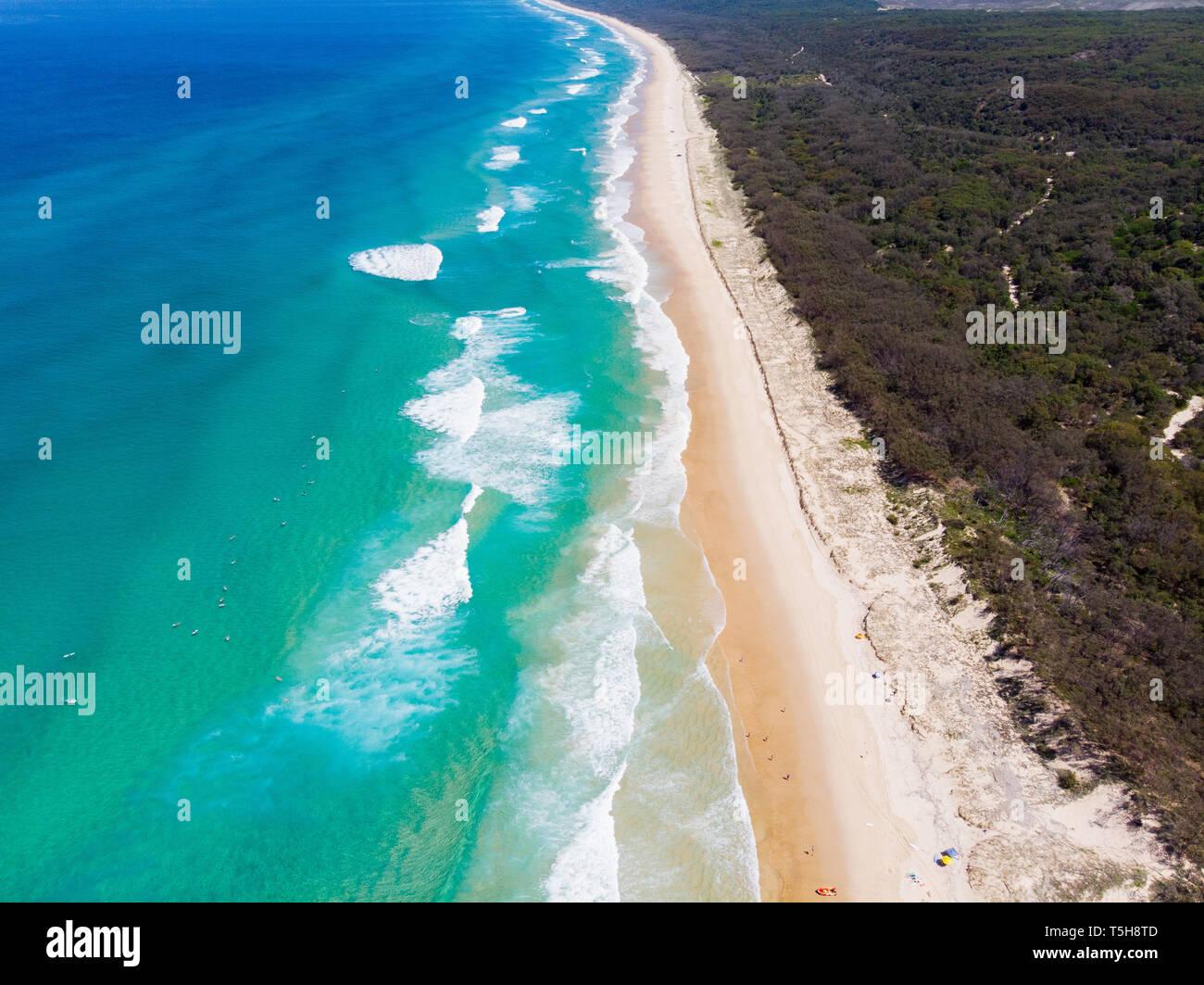 Agua Azul tropical en Australia Imagen De Stock