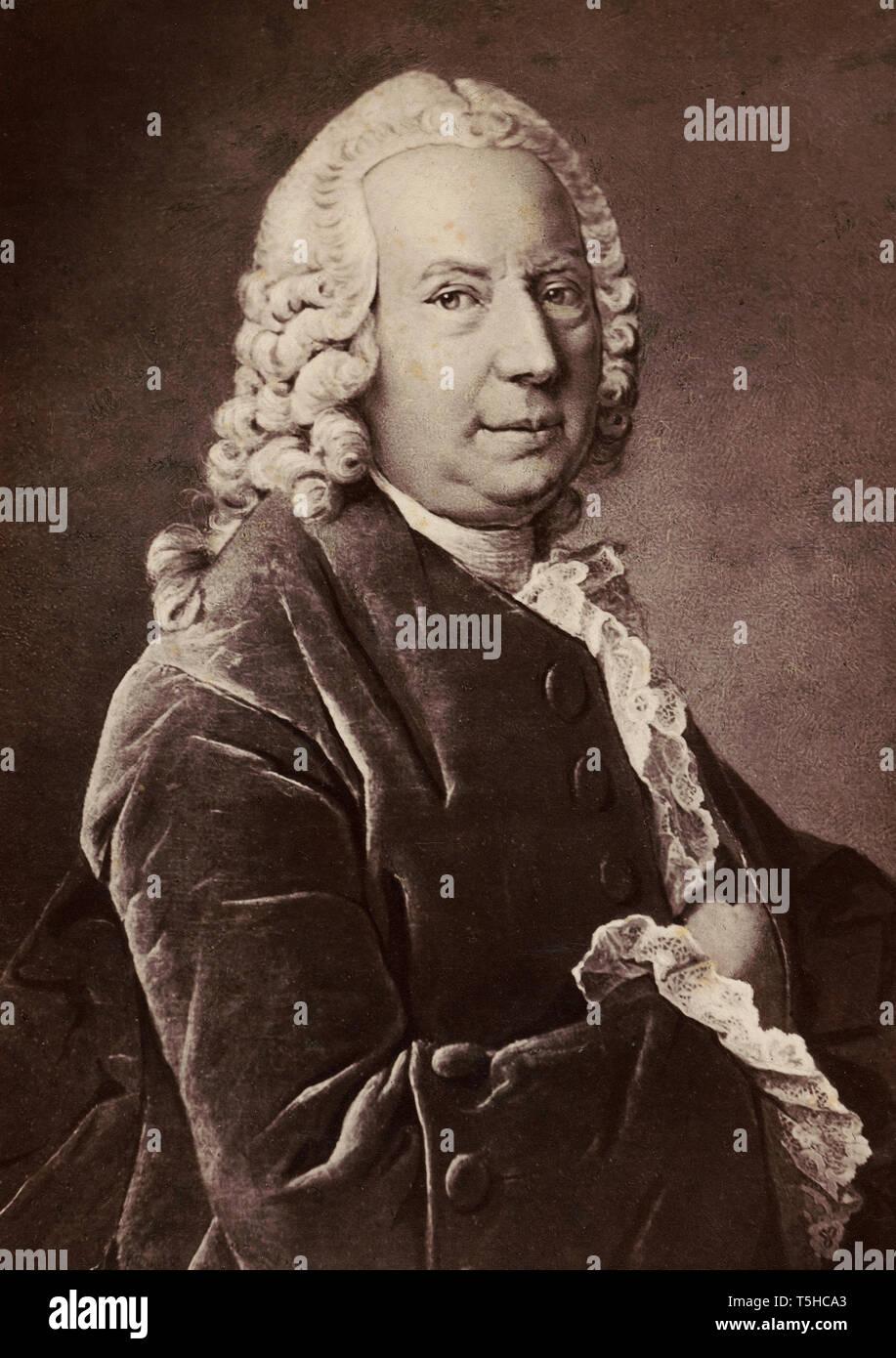 DANIEL BERNOULLI (1700-1782) matemático y físico suizo alrededor de 1750 Imagen De Stock