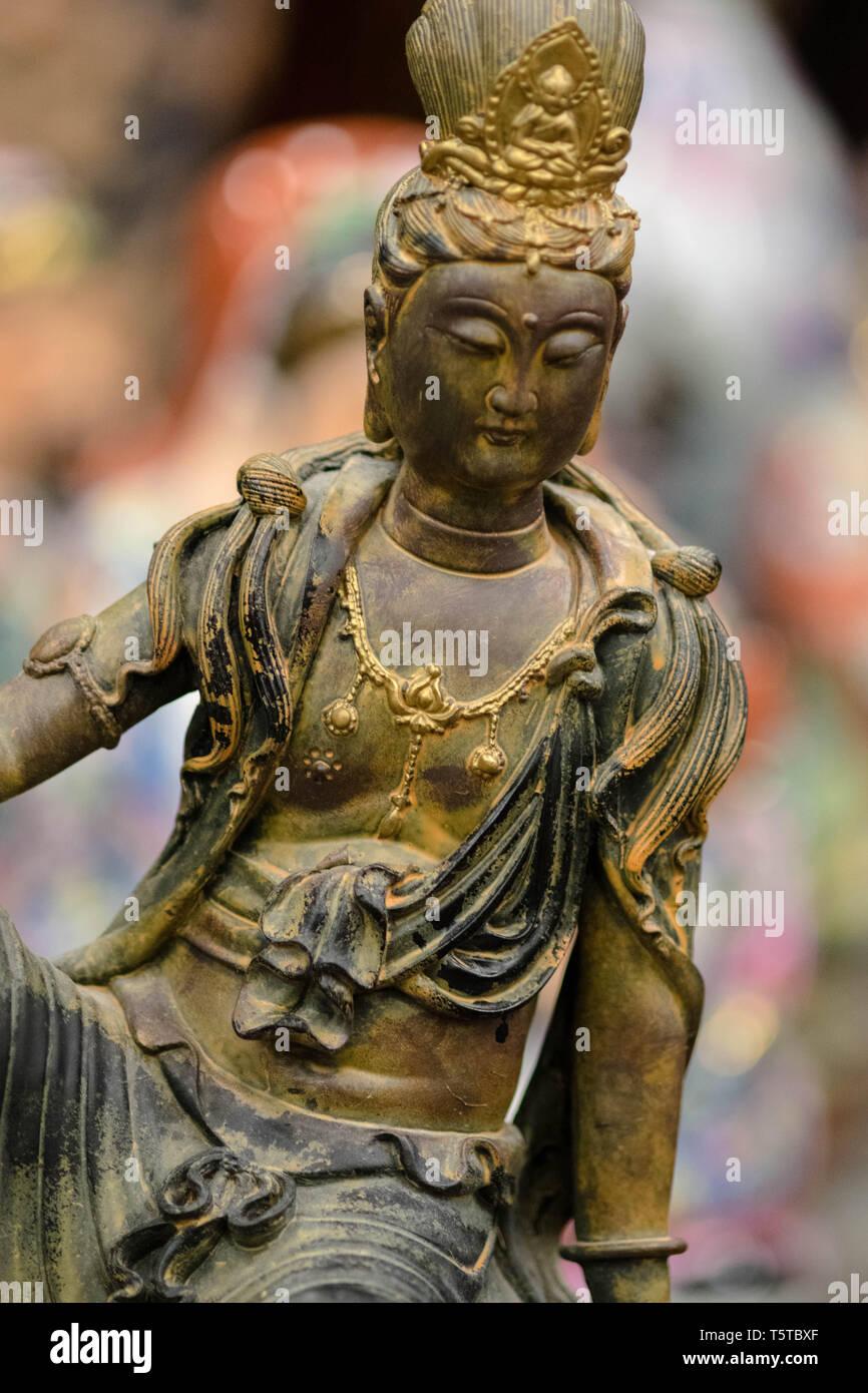Buda, la figura, la estatua, aislado, el budismo, religión, Dios, la meditación, la cultura, Asia, escultura, asiática, el fondo, la religión, yoga, Gautama, india Foto de stock