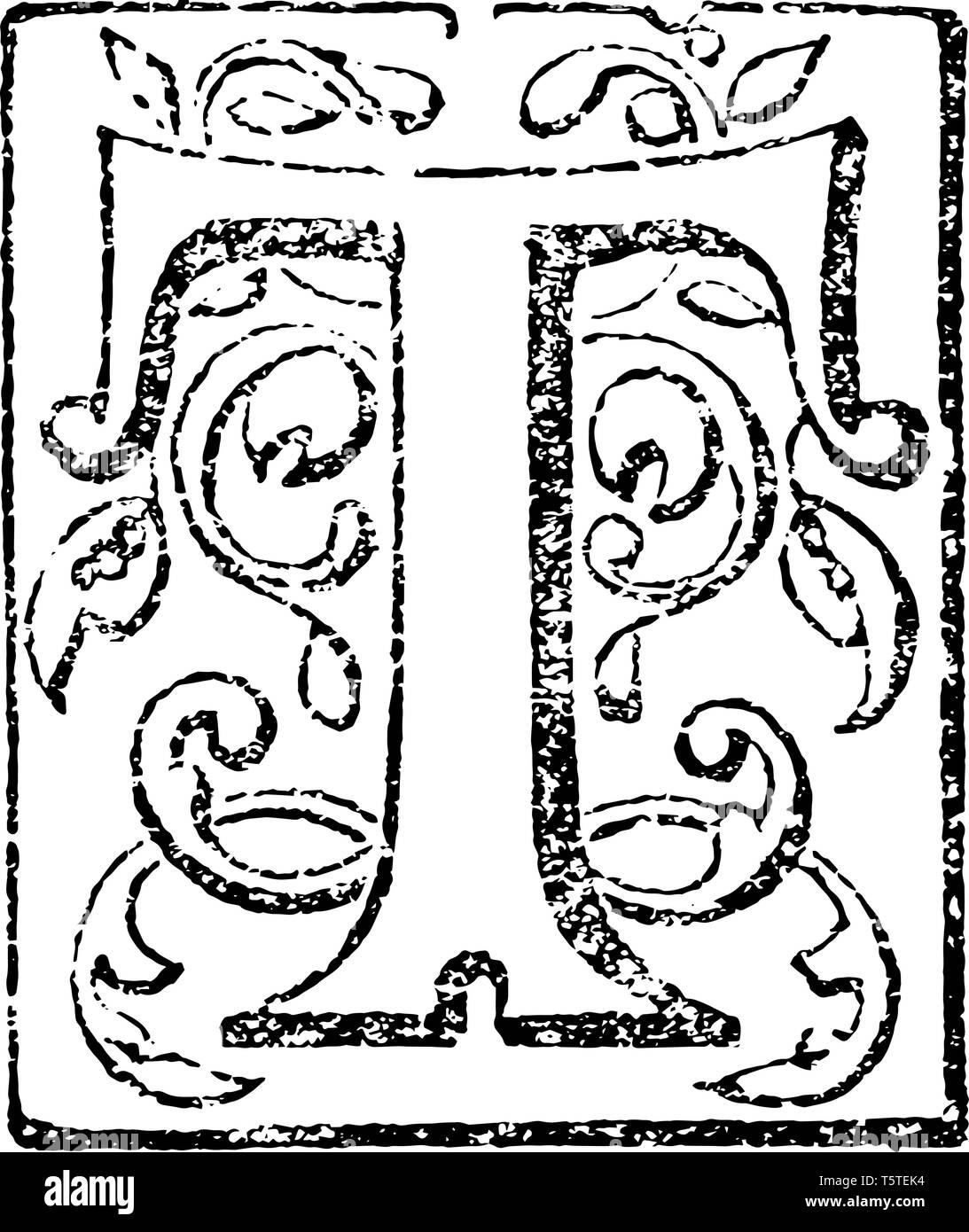 Una Imagen De Una Letra T Decorativos Enmarcados Con Flores