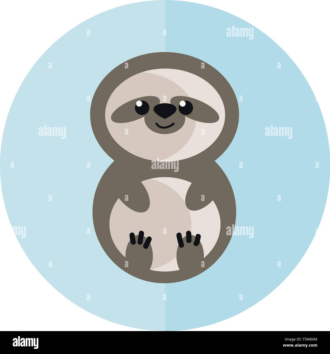 Un bebé sloth vector o ilustración a color Ilustración del Vector