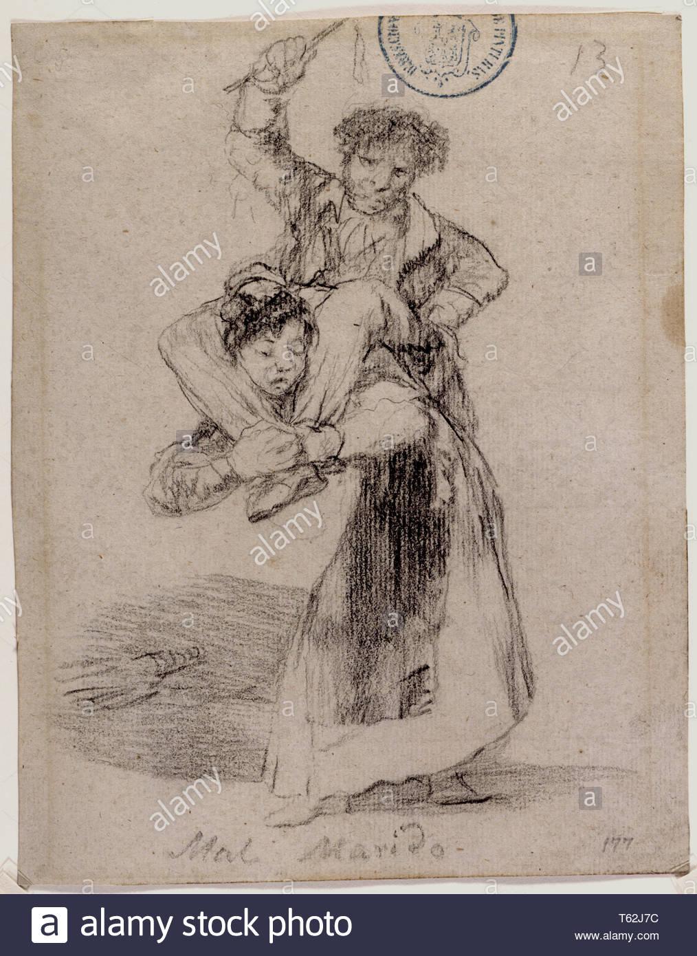 Goya y Lucientes, Francisco de-Mal Marido Imagen De Stock