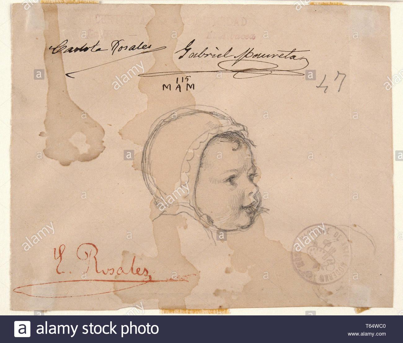 Rosales, Eduardo-Eloisa Gallinas, hija del artista2 Imagen De Stock
