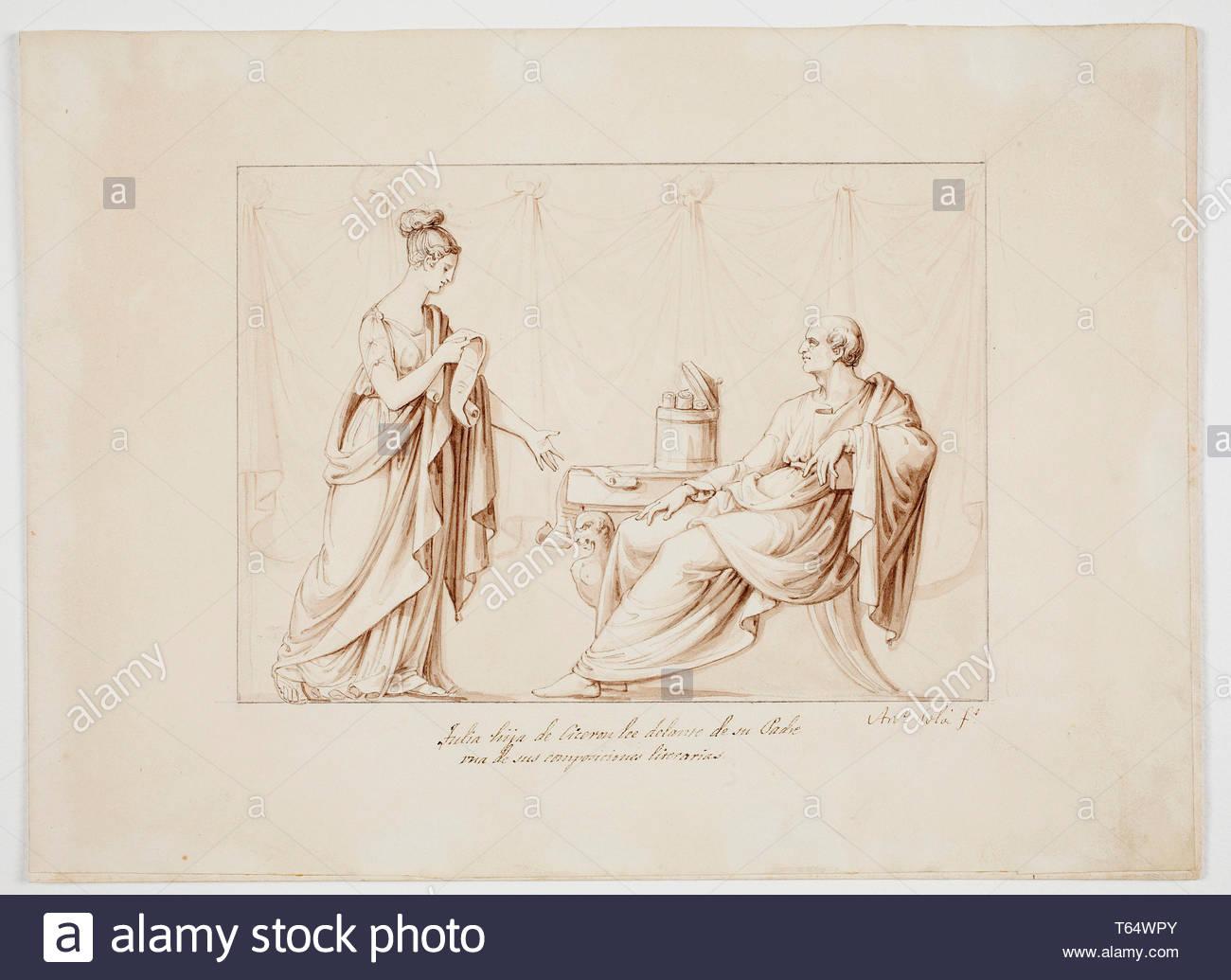 Sola, Antonio-Tulia, hijas de Ciceron Imagen De Stock