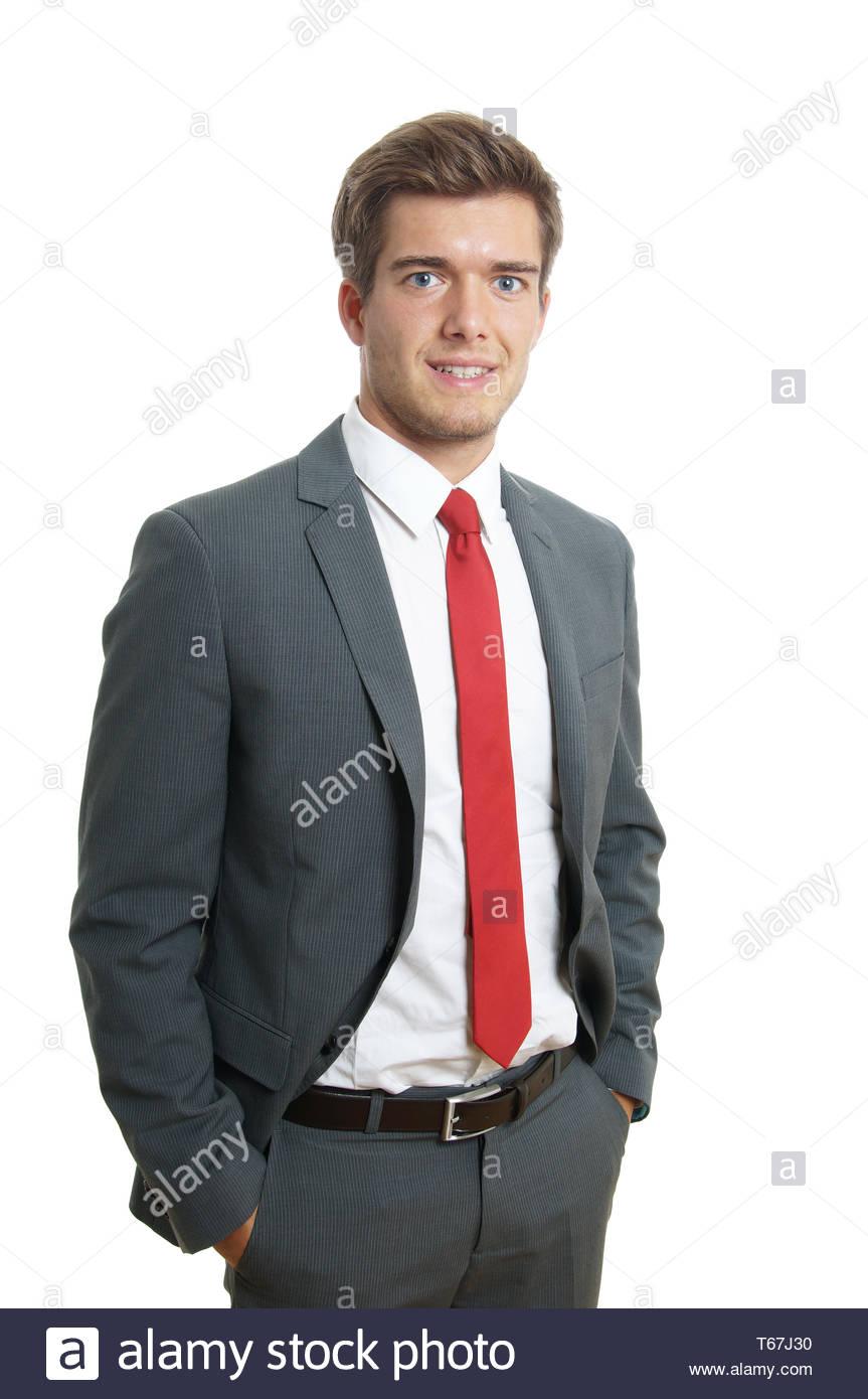Joven Hombre Vestido Con Traje Y Corbata Foto Imagen De
