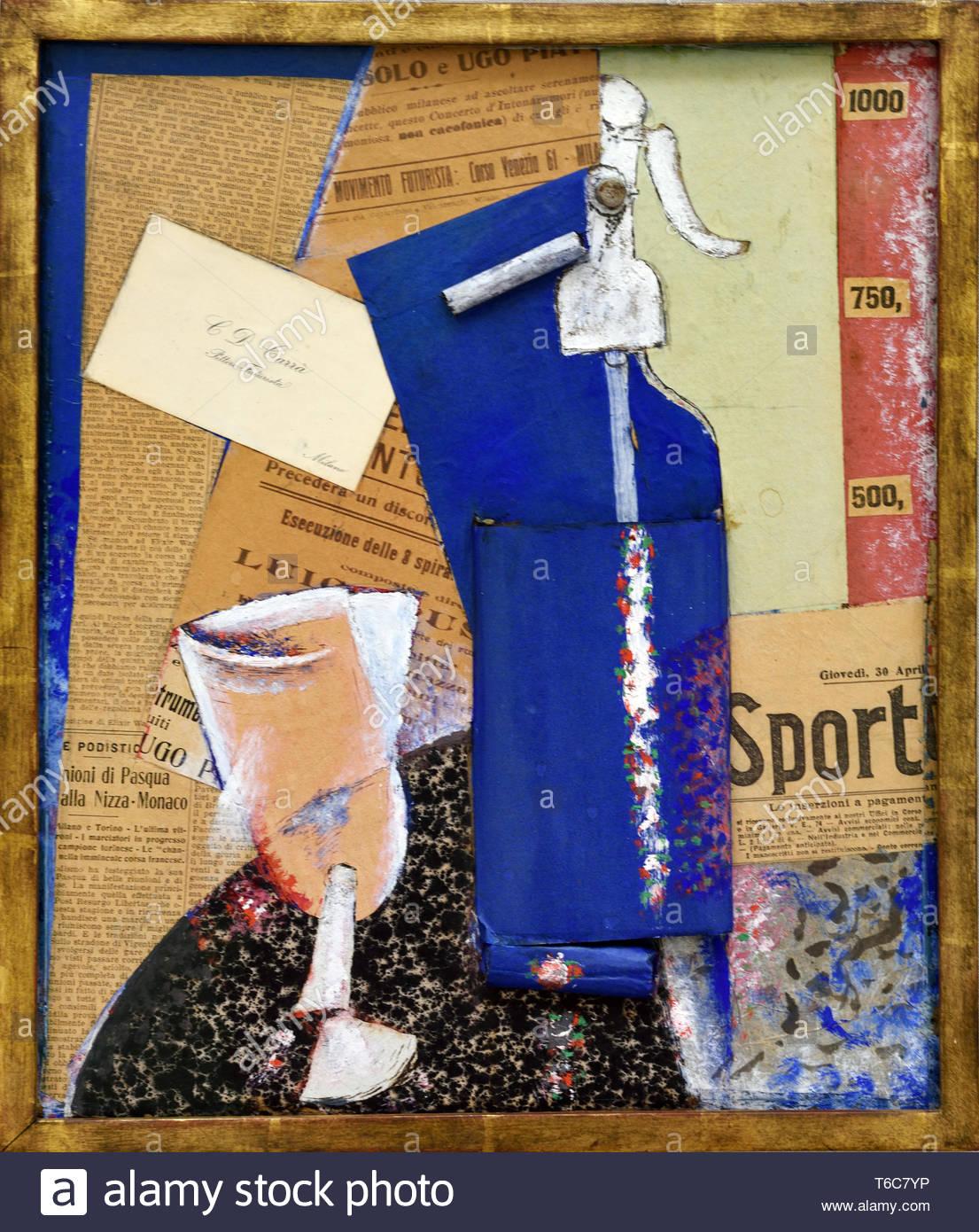 Bodegón con soda de sifón sifón ( ) 1914 por Carlo Carra nacida en 1881italiano Italia Imagen De Stock