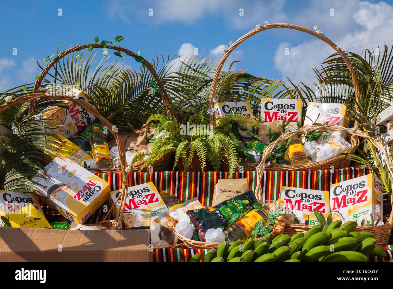 Romería de cardones, Arucas, Gran Canaria Imagen De Stock