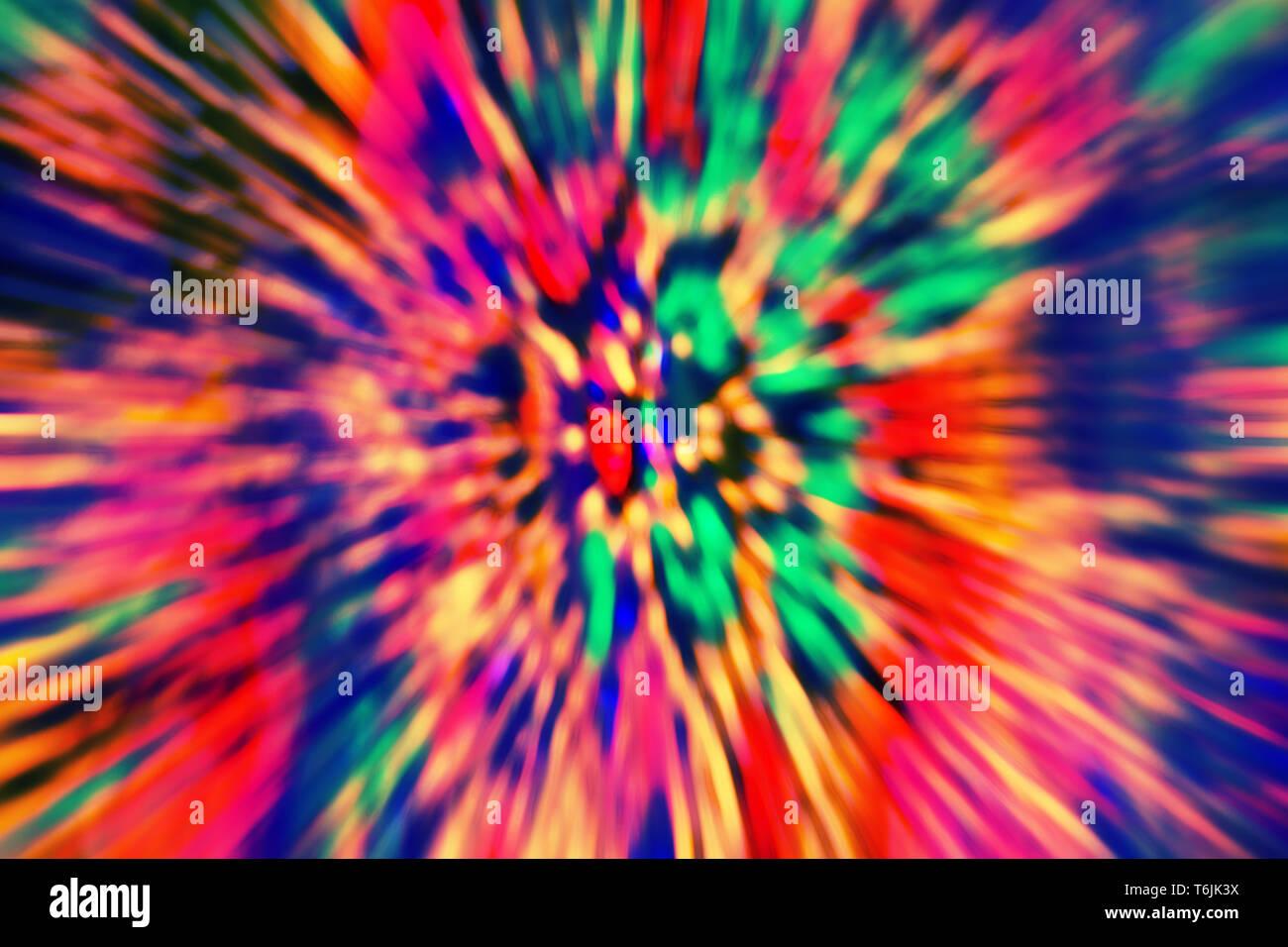 Imagen de fondo abstracto multicolor psicodélico de desenfoque de movimiento. Foto de stock