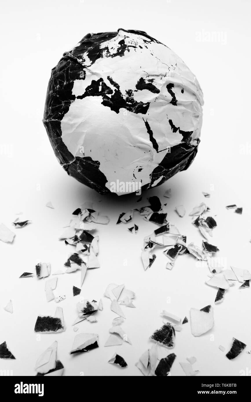 Dañado el planeta Tierra Foto de stock