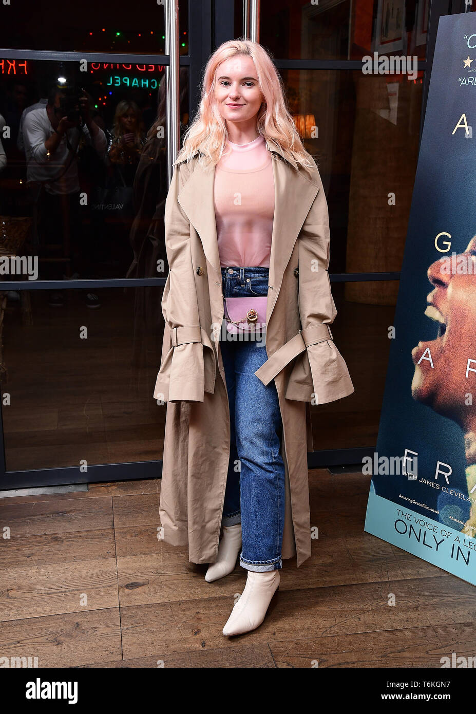 Grace Chatto asistieron a la proyección del documental, Aretha Franklin Amazing Grace, a jamón Yard Hotel, Londres. Foto de stock