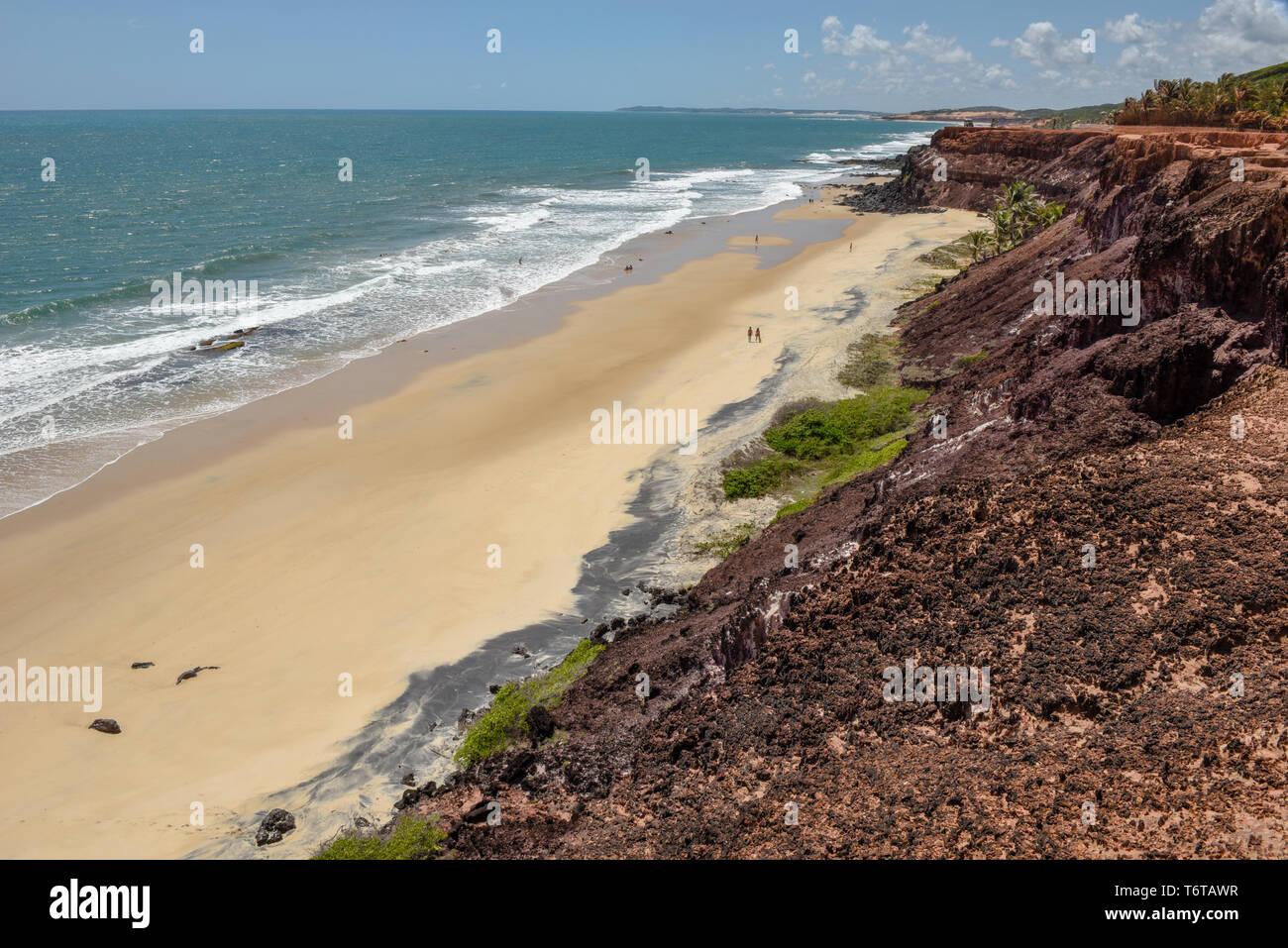 La preciosa playa de Praia do Amor cerca de Pipa en Brasil Imagen De Stock