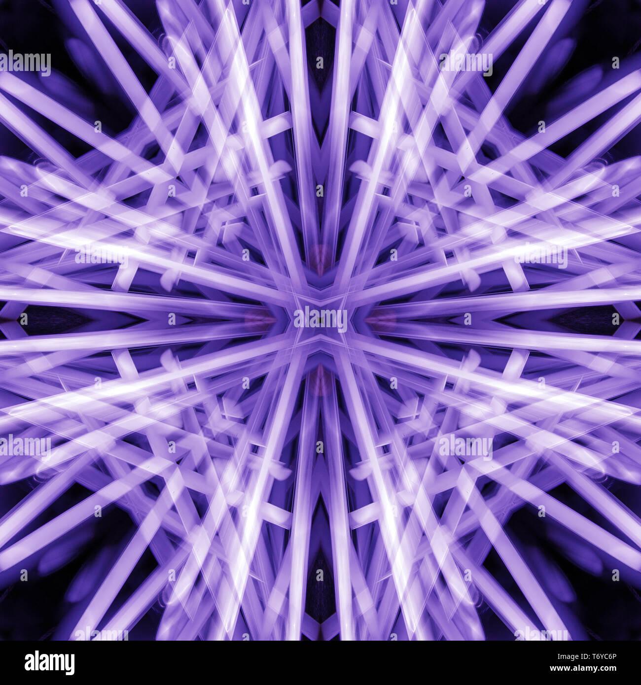 Arte patrón psicodélico. Resumen de antecedentes coloridos simétrico. Foto de stock