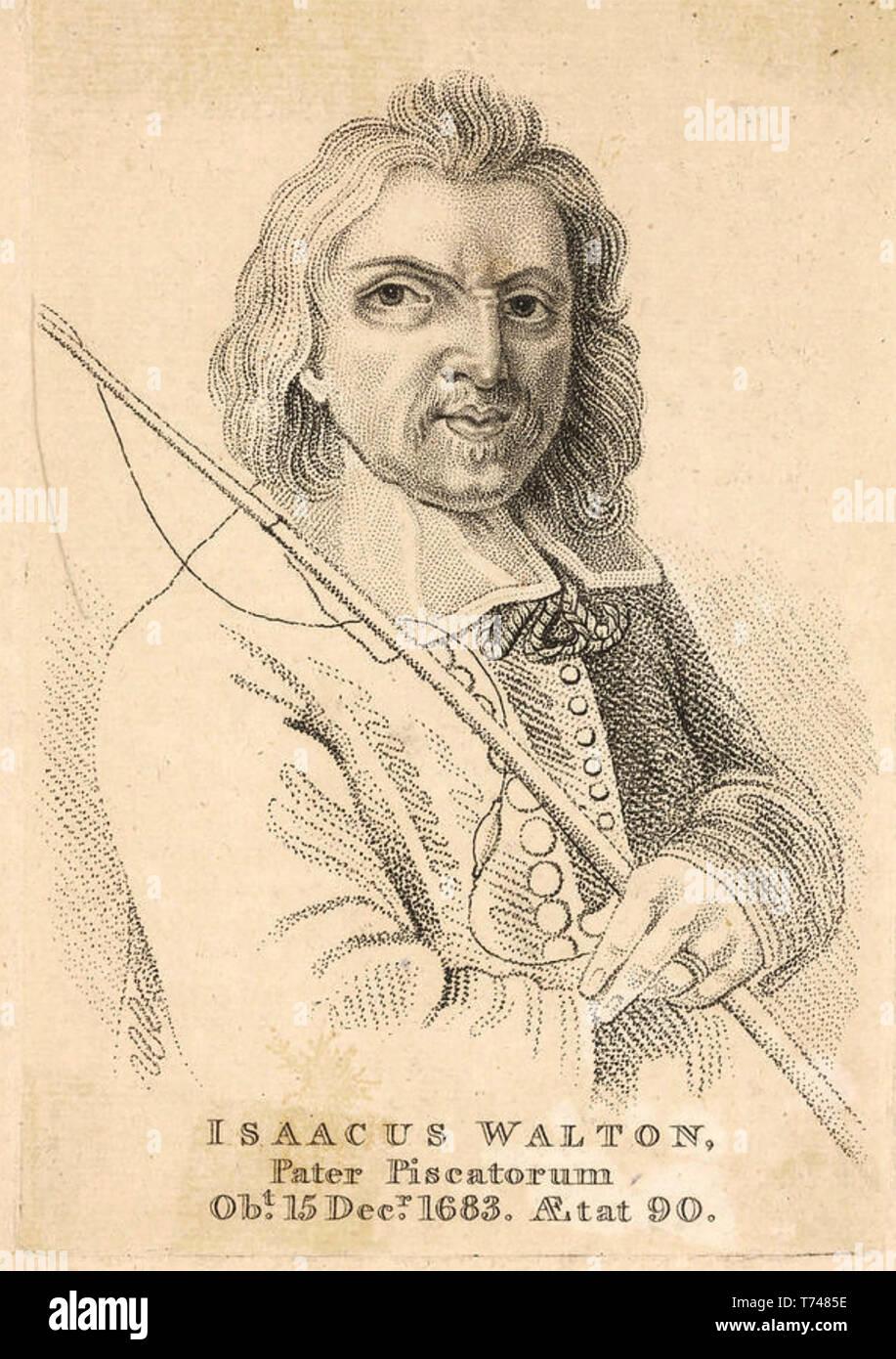 IZAAK WALTON (c) 1593-1683 English biógrafo y escritor sobre pesca deportiva Imagen De Stock