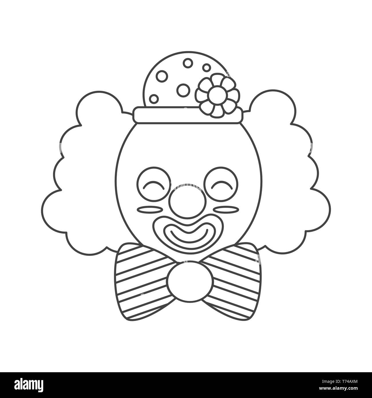 Caricatura En Blanco Y Negro Para Colorear La Ilustración