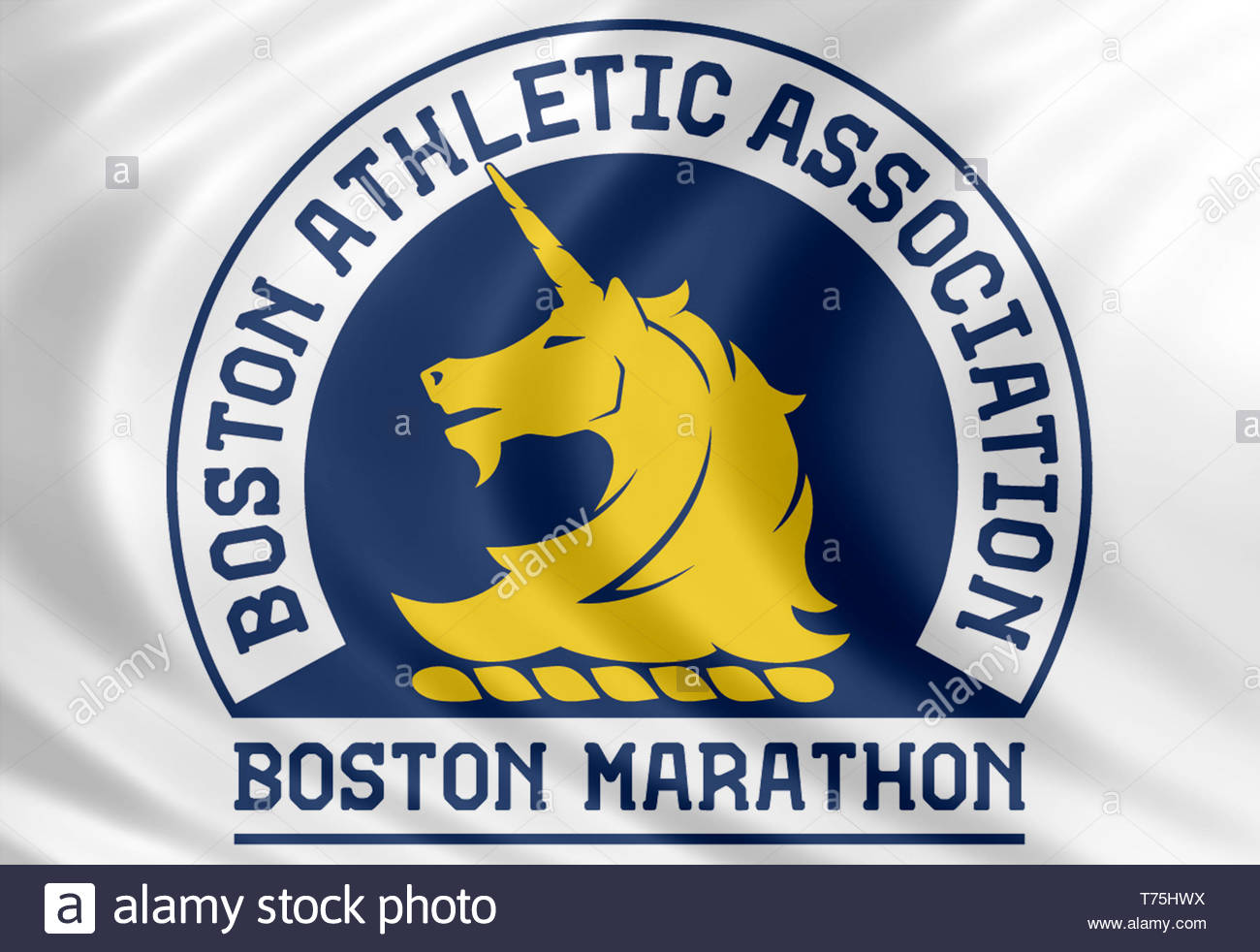 Símbolo de la bandera la Maratón de Boston Imagen De Stock