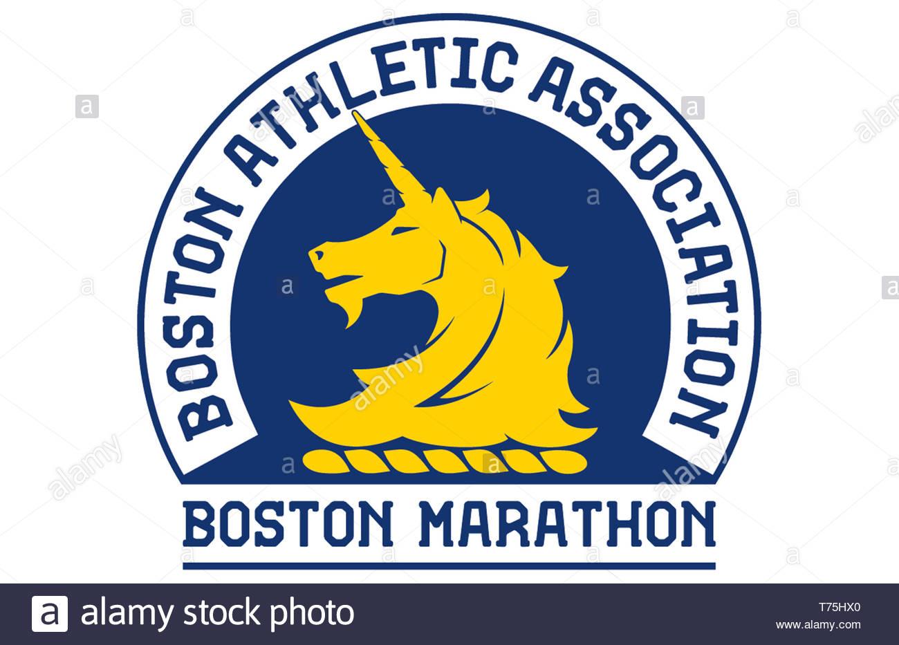 Icono del logotipo de la Maratón de Boston Imagen De Stock