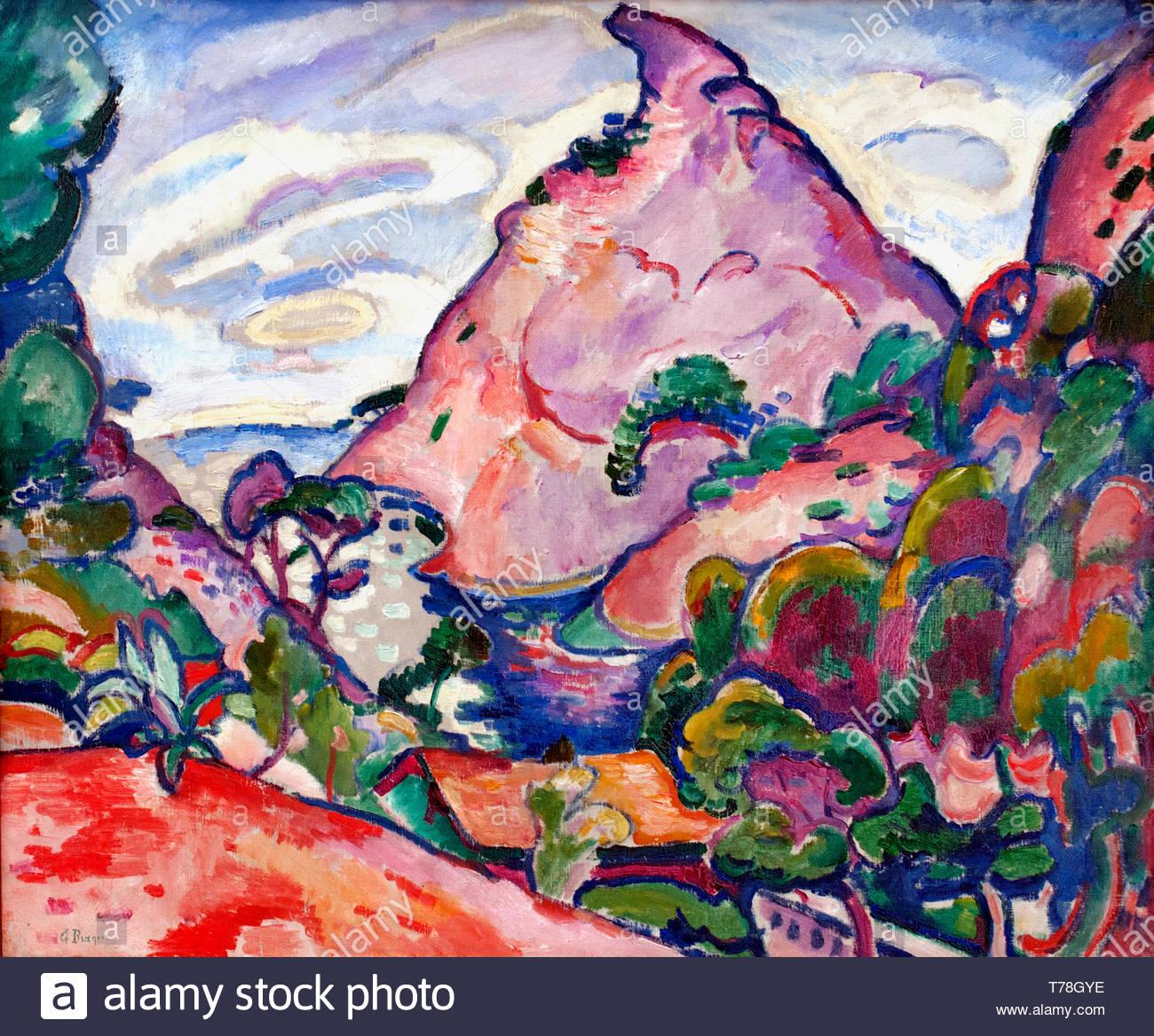 La Calanque - Temps Gris 1907 Georges Braque, nacido en 1882, pintor y escultor francés. (Fauvismo, cubismo) Francia Imagen De Stock