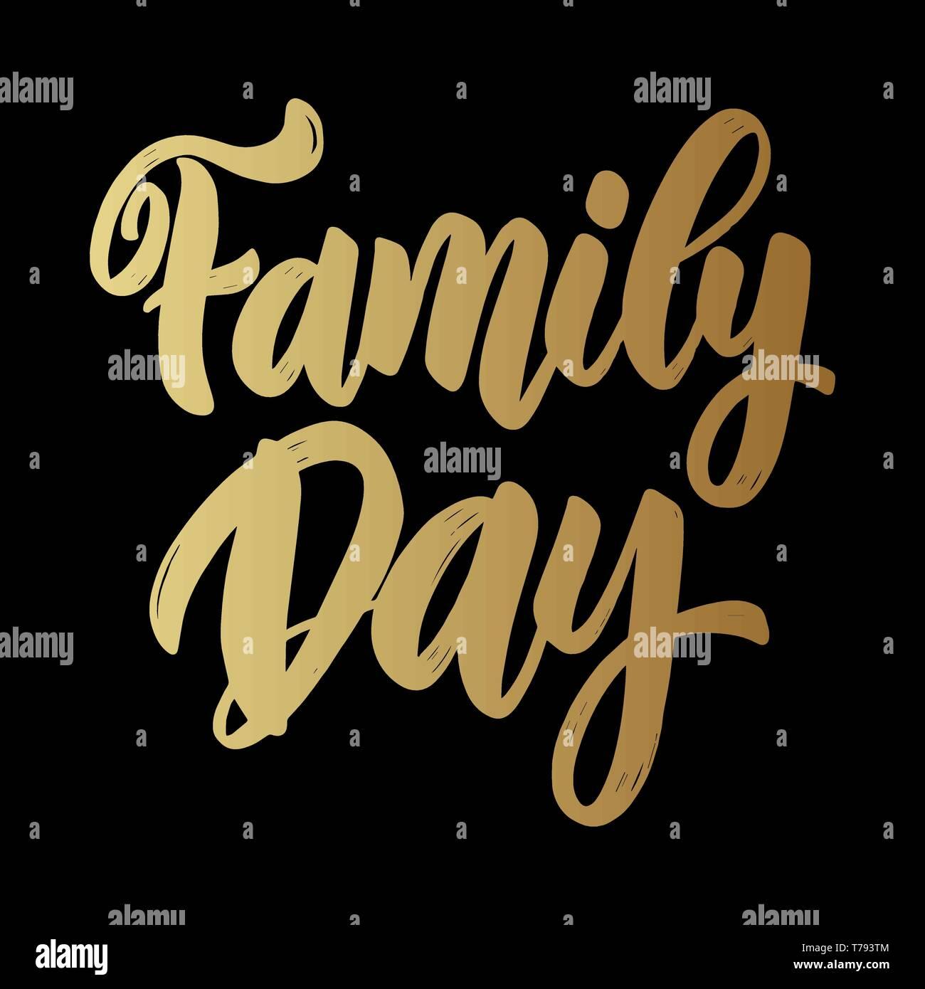 Día De La Familia Letras De Texto Frase Para La Tarjeta De