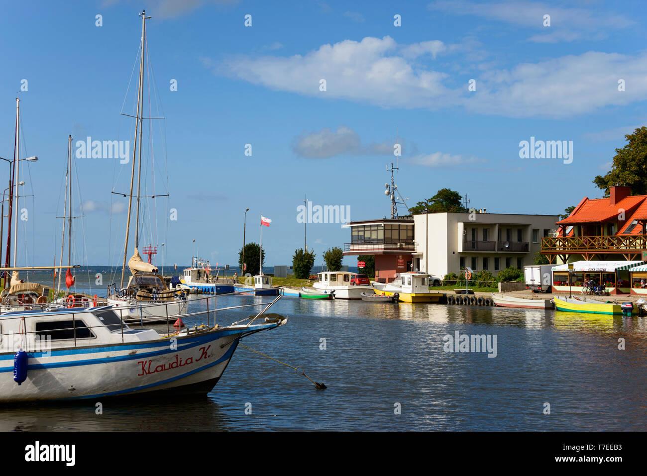 Harbour, Palaíkastron, Warmia Masuria, Polonia Foto de stock