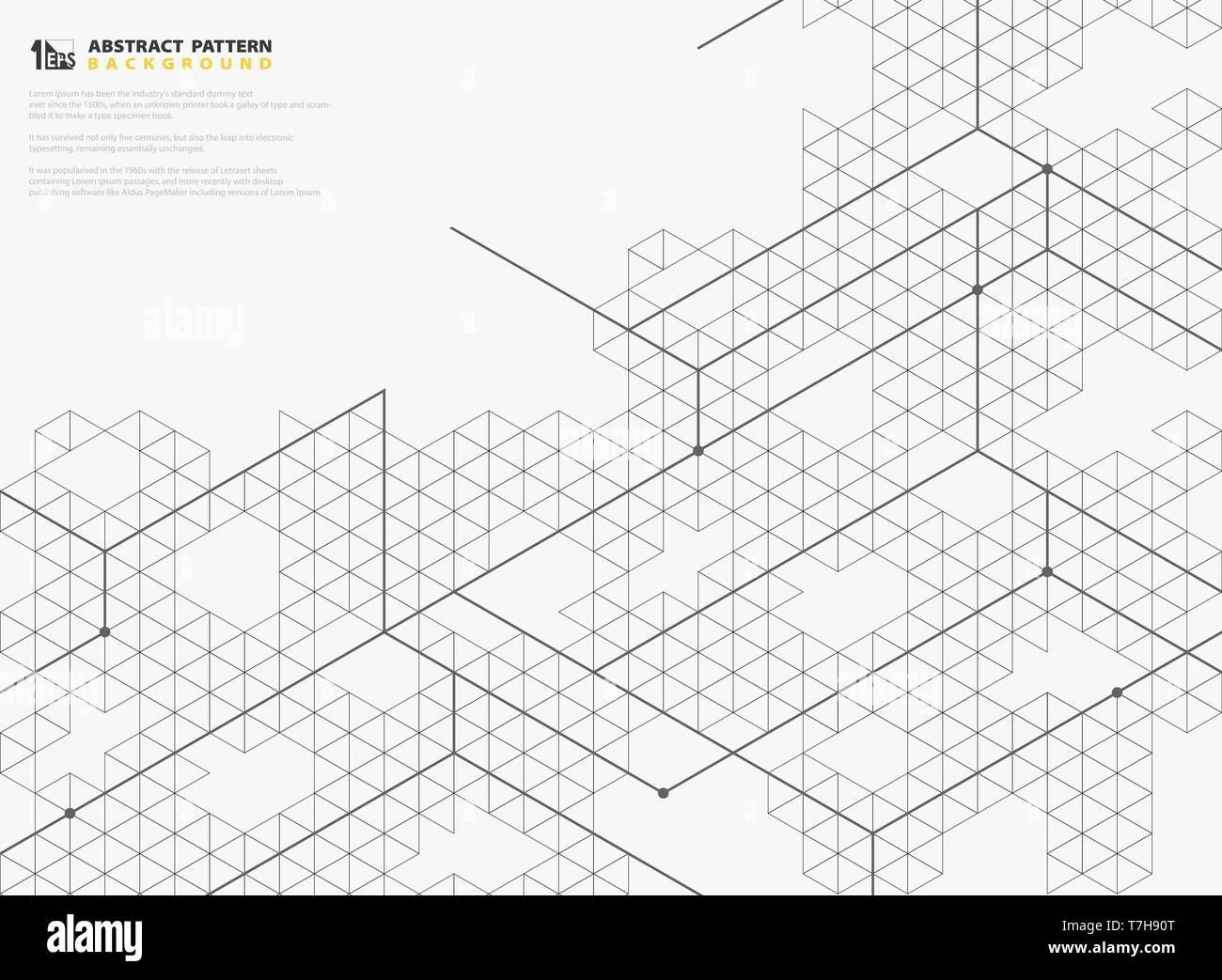 ea9a725824 Resumen plaza moderna estructuras de línea de diseño de patrones geométricos  de fondo. Puede utilizar