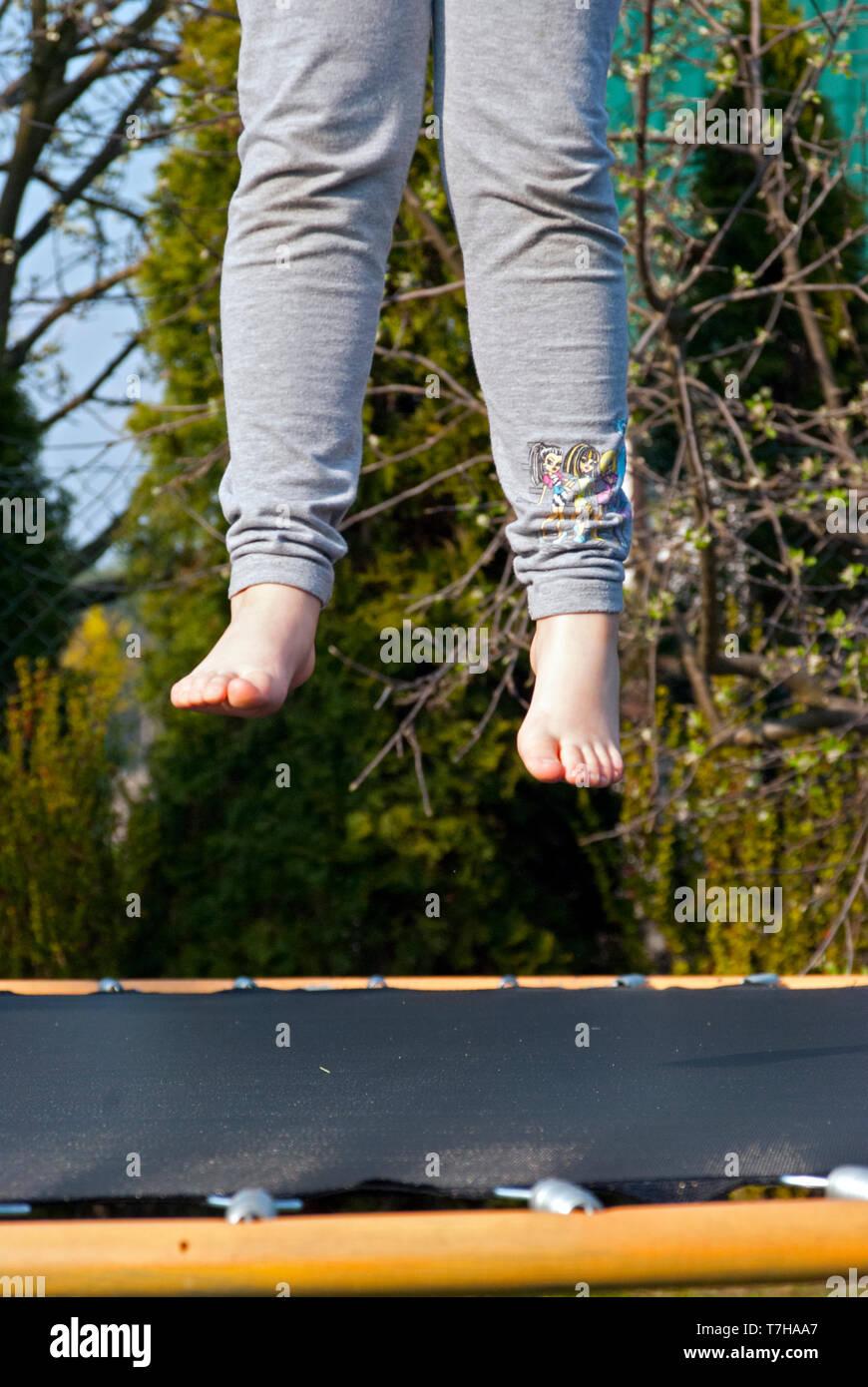 Trampoline Above Fotos E Imágenes De Stock Alamy