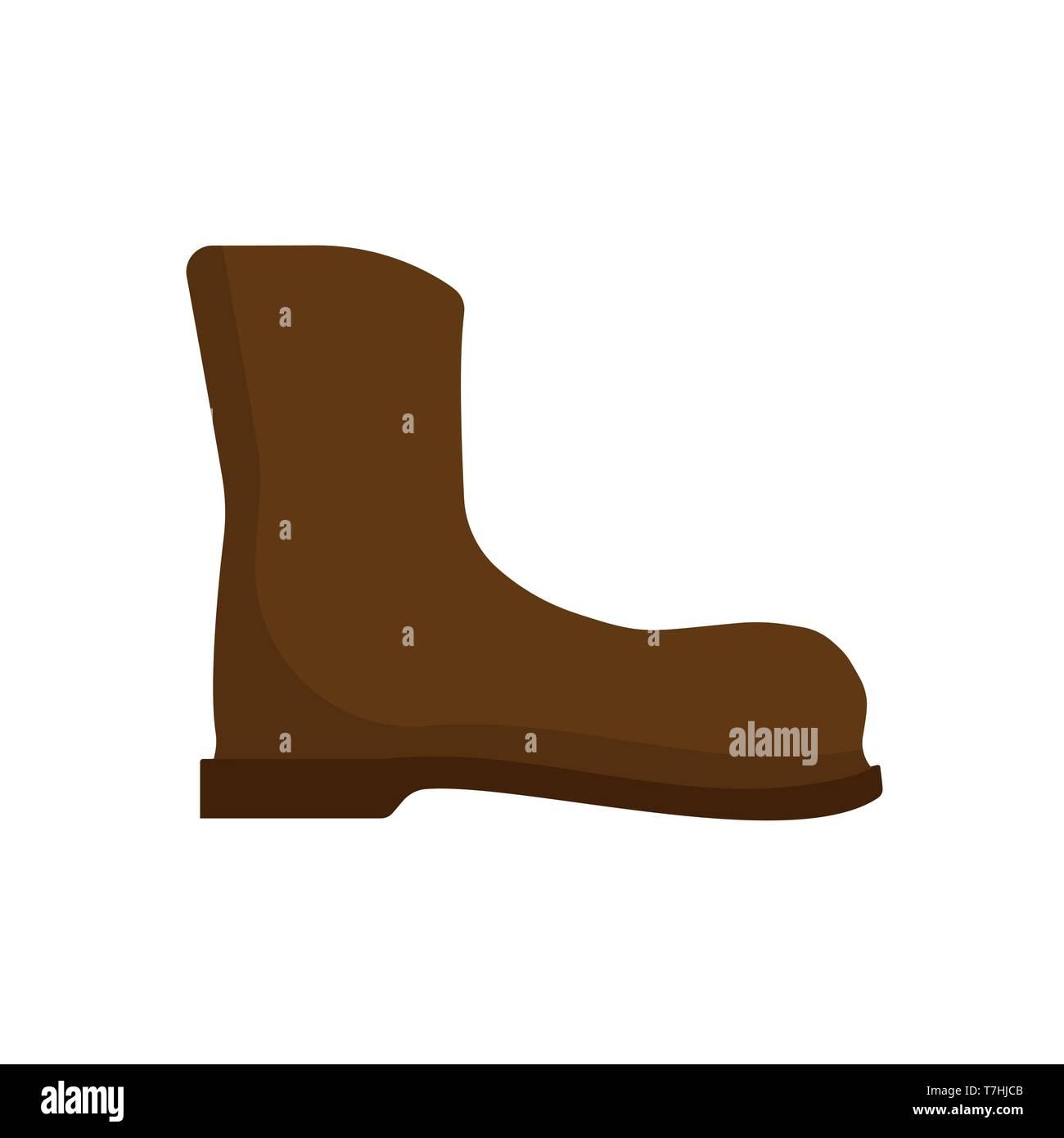 69fcb3b5 Bota de trabajo los zapatos de cuero de diseño vectorial arte icono.  Seguridad de montaña