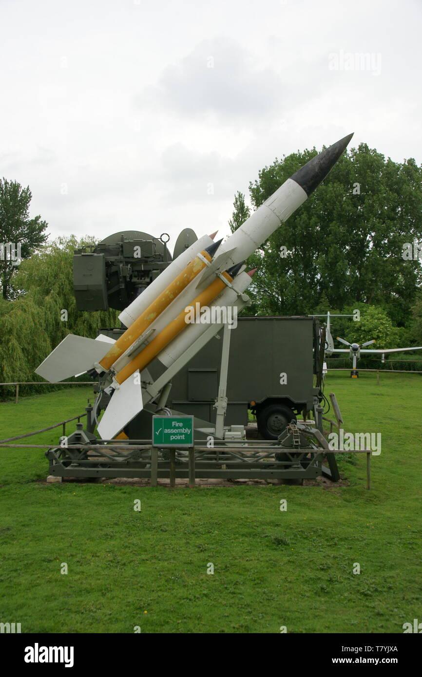 Bristol Bloodhound de misiles de la guerra fría Imagen De Stock