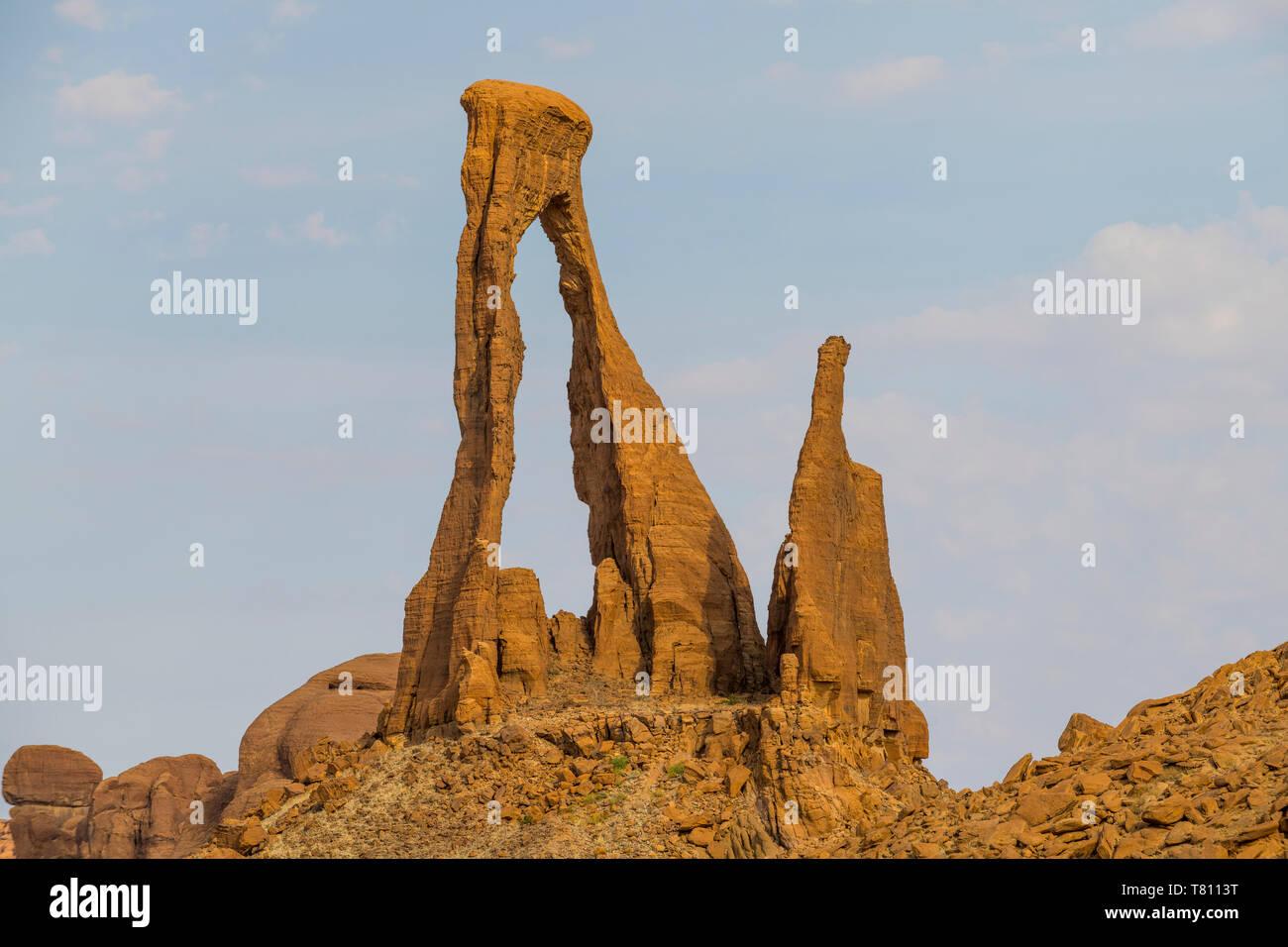 La Meseta de Ennedi, Sitio del Patrimonio Mundial de la UNESCO, la región de Ennedi, Chad, África Foto de stock