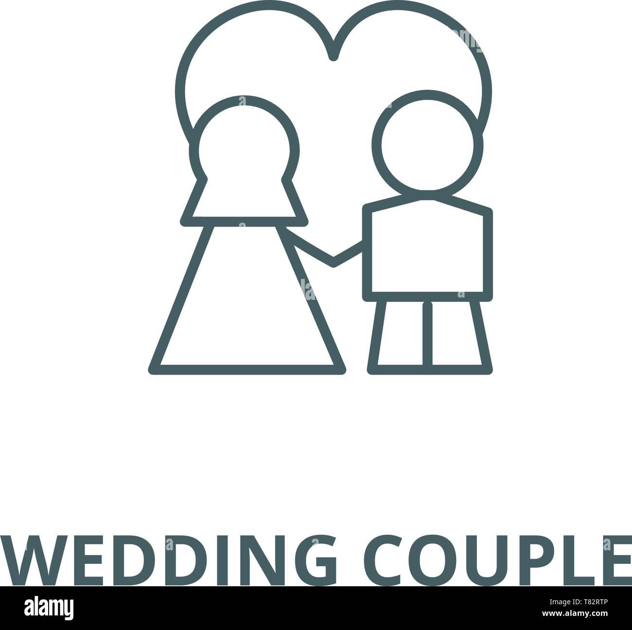 3a1dc5e44f Couple Cartoon Wedding Marriage Icon Imágenes De Stock   Couple ...